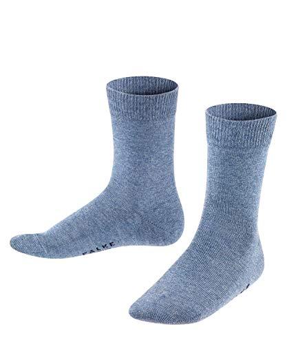 FALKE Unisex Kinder Socken Family, Baumwolle, 1 Paar, Blau (Light Denim 6660), 35-38 (9-12 Jahre)
