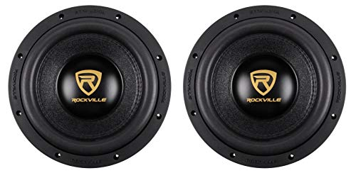 (2) Rockville W10K9D2 10' 6400 Watt Car Audio Subwoofers Dual 2-Ohm Subs