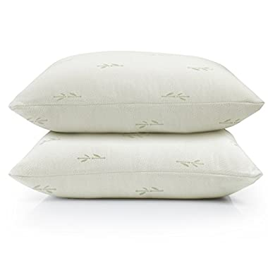 Home Fashion Designs 2-Pack Ultra-Luxury Eco-Friendly Bamboo Zippered Pillow Protectors. Naturally Allergy, Dust Mite & Bed Bug Resistant. Anti-Microbial & Sustainable Pillow Covers. (Standard)