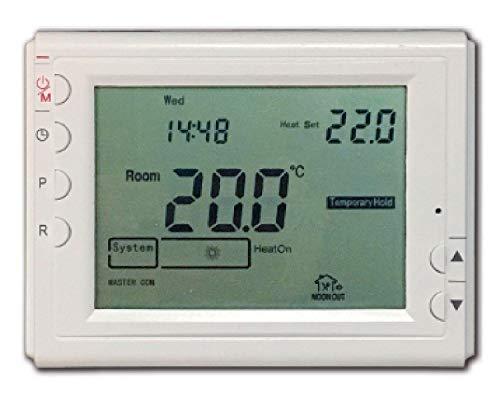 Bravo Cronotermostato Wi-Fi Thermostat WLAN Weiß - Thermostate (WLAN, Weiß, Knöpfe, LCD, DC/Batterie, 115 mm)