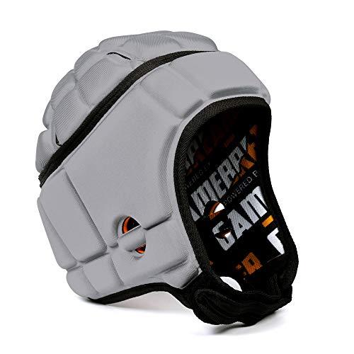 GameBreaker-Pro Multi-Sport Protective Headgear (Silver, Medium), Soft-Shell Helmet for Various Sports, Protective Sports Gear with Superior Ventilation Design - GameBreaker