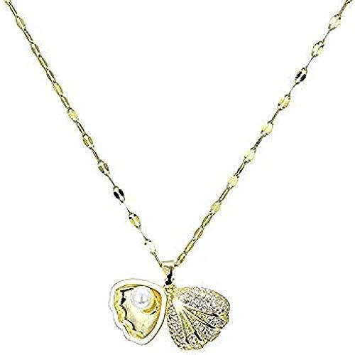 Yiffshunl Collar Collar de Hip Hop con Mapa de Personalidad Colgante pequeño Colgante pequeño de Moda Collar de Moda Collar de Regalo