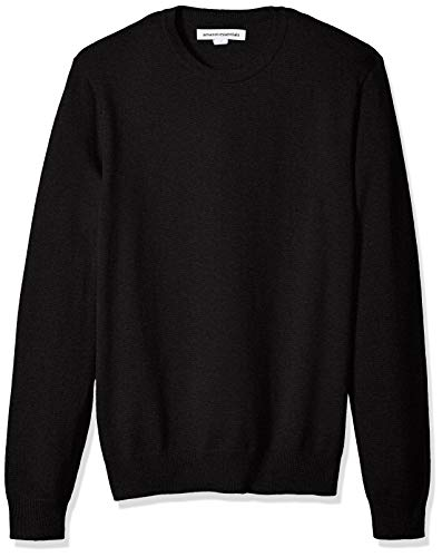 Amazon Essentials Men's Crewneck Sweater, Black, Medium