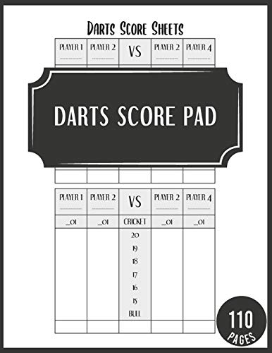 Darts score Pad: Dart board score keeper sheets scorebook with out chart page for scorekeeping (Darts lovers gift). (Vol 2)