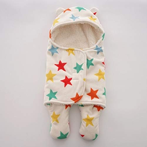 QWERTYU LIFUQIANGME kinderslaapzak winterslaapzak voor de winter, warme slaapzak voor kinderen, accessoires, beddengoed, maat L 78 x 86 cm (Blue Star), Color Star