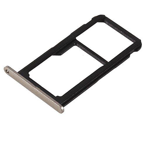 jbTec SD-Card/SIM-Tray/Halter passend für Huawei P8 Lite 2017 - Slot Karte Schlitten Rahmen Holder Handy Card Ersatz, Farbe:Gold