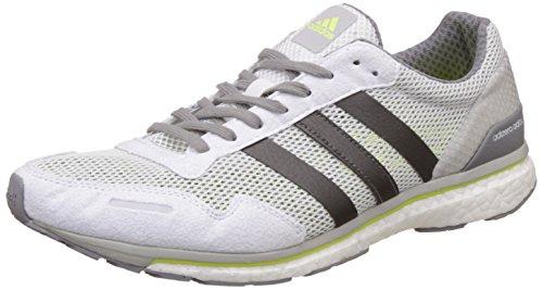 adidas Adizero Adios M, Zapatillas de Running Hombre, Blanco (Ftwbla/Grmetr/Amasol), 40 2/3 EU
