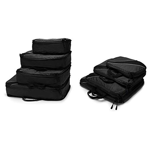 4 Set Packing Cubes, Luggage Sets Cube Organizer