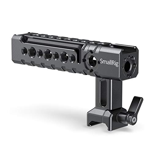 SMALLRIG NATO Rail Handle, Top Handgrip with Mounting Points, Cold Shoe Mount for Camcorder Camera Cage - 1955