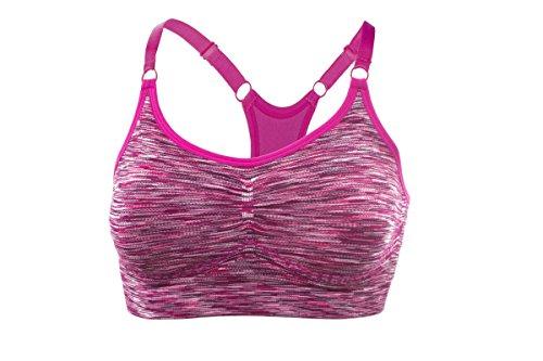 Crivit® Sport Bustier Bra BH Sportive Atmungsaktiv Seamless Mehrfarbig M (40/42)
