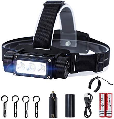 UltraFire Ultra bright 1000 Lumen 18650 LED Headlamp IPX4 Waterproof USB Rechargeable Headlight product image