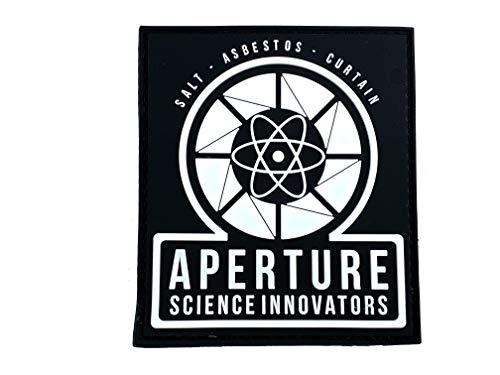 Aperture Science Innovators Cosplay Airsoft PVC Klett Emblem Abzeichen Patch (Im Dunkeln Leuchten)