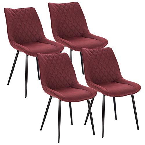 WOLTU 4X Sillas de Comedor Dining Chairs Nordicas Estilo Vintage Juego de 4 Sillas de Cocina Sillas