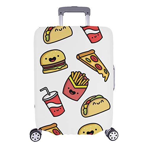 Boys Luggage Cover Hamburger Cartoon Cute Decor Durable Washable Protecor Cover Fits 28.5 X 20.5 Inch Cover Protector For Suitcase Small Luggage Cover Protector Suitcase Cover
