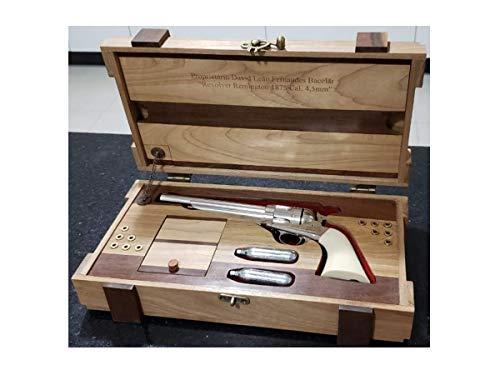 Caixa de Madeira Nobre p/Armas de fogo (PERSONALIZADO)