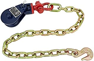 Mytee Products Snatch Block with Shackle and Chain Anchor (3