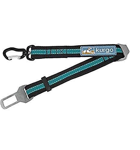 Kurgo K81067 Sicherheitsgurt für Hunde, Verstellbare Hundeleine, schnelle und einfache Anbringung, den Gurt für Hunde direkt am Gurt anbringen, blau, 91 g