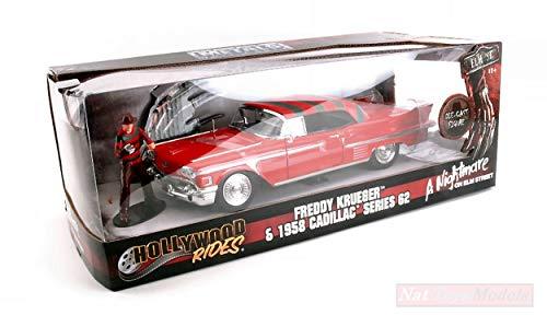 Jada Toys Models KOMPATIBEL MIT Cadillac Series 62 A Nightmare W/Freddy Krueger Figure 1:24 DIECAST JADA31102