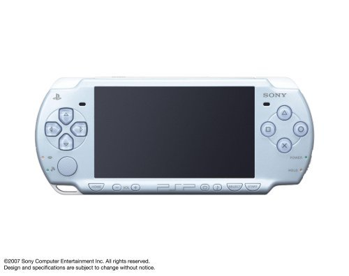 Sony Playstation Portable (PSP) 2000 Series Handheld Gaming Console System (Pearl Baby Blue)(Renewed)