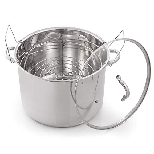McSunley 620 Medium Stainless Steel Prep N Cook Water Bath Canner, 21.5 Quart, Silver (Unit)