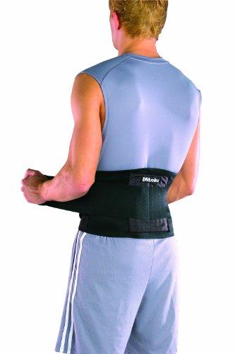 Mueller Rücken-Aktivbandage zur Unterstützung des Lendenwirbelbereiches, Einheitsgrösse, schwarz