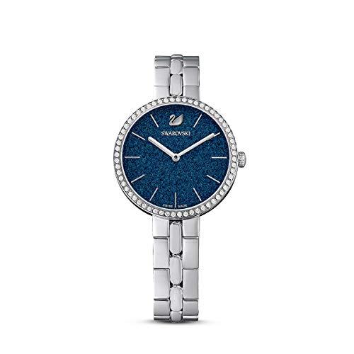 Swarovski Reloj Cosmopolitan, brazalete de metal, azul, acero inoxidable