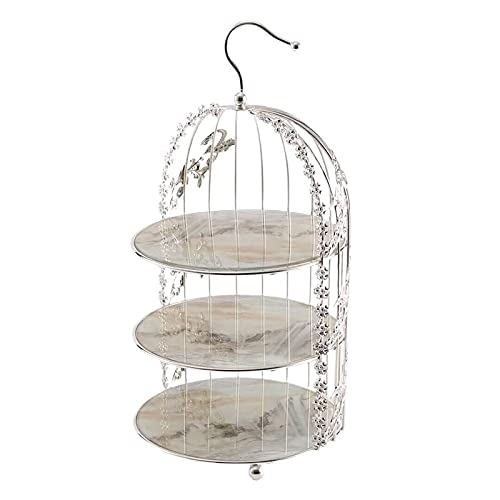 Dessert Table Decoration,Cake Stand, Tea Cake Tray Display Stand, Wrought Iron Bird Cage,Afternoon Tea Snack Stand Cake Stand Home Tool-A  3 Layer
