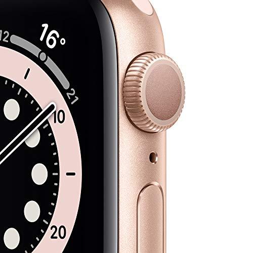 AppleWatch Series6 (GPS, 40mm) Aluminiumgehäuse Gold, Sportarmband Sandrosa
