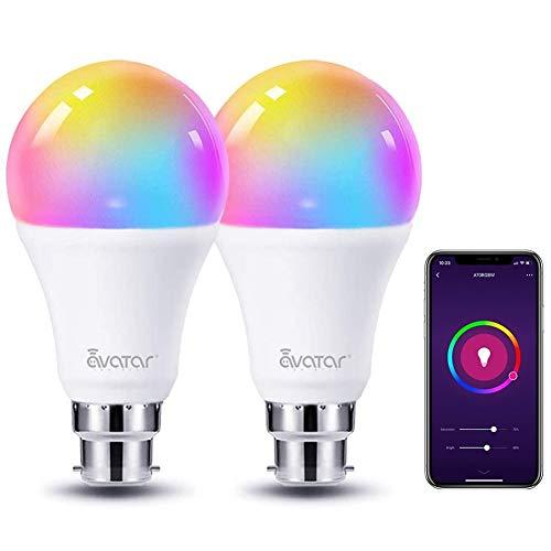 WiFi Smart Bulb Alexa Light Bulbs B22 Bayonet 8W RGBCW Works with...