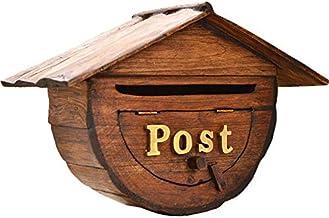 Yxsd wandgemonteerde afsluitbare brievenbusje, duurzame veiligheid creatieve halve cirkel retro postbussen verticale muurb...