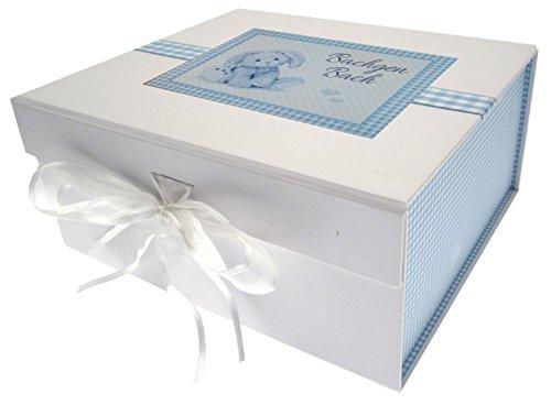 White Cotton Cards Bleu Bunny Gallois bébé/Bachgen Bach/Mini Album Photo, Tableau, Blanc, 20 x 23 x 10.7 cm