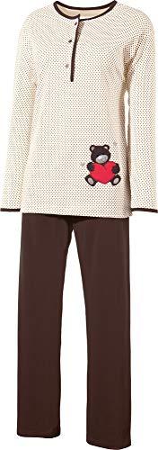 laritaM Schlafanzug mit Applikation Single-Jersey natur Größe 44/46