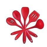 YSWG Utensilios de Cocina Set de Utensilios de Cocina No Palmas Herramienta de Cocina Espátula La Dle Huevo Shovel Soup Soup Utensilios de Utensilios de Silicona Utensilios de Cocina