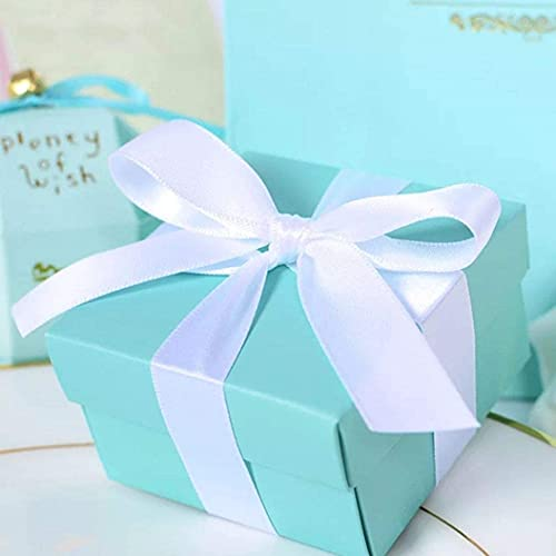 Coloris(カラリス) ティファニーブルー ギフトボックス 30個セット 結婚式 誕生日 ボックス バースデー ボックス お菓子箱 パーティー 結婚式 誕生日用ボックス 贈り物 好意 ギフト箱 (ブルー)