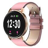Montre connectée Bluetooth IP68 étanche avec écran Tactile de 1,3 Pouces avec Moniteur de fréquence Cardiaque, Moniteur de Sommeil, podomètre, Notification d'appel SMS pour iOS Android