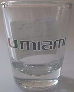 NCAA College U Miami Shot Glass