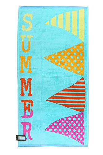 jilda-tex Strandtuch Summer Breeze 80x170 cm Badetuch Strandlaken Handtuch 100% Baumwolle Velours Frottier Pflegeleicht