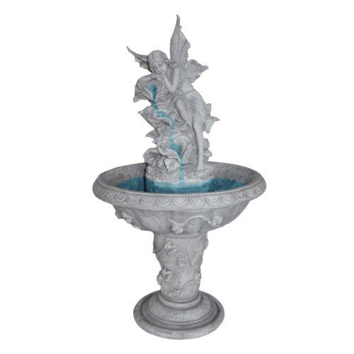 Solar Water Fountain - Pixie Fairy Garden Decor Fountain - Outdoor Water Feature