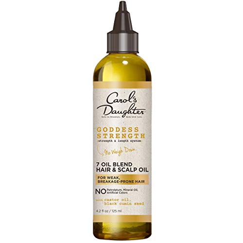 Carol's Daughter 7 Oil Blend Scalp Oil | Hair Oil with Castor Oil and Black Seed Oil | for Weak, Breakage Prone Hair | Goddess Strength | 4.2 Fl Oz