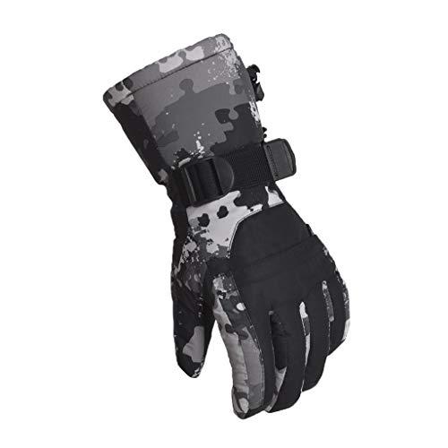 YQRJYB ski handschoenen, winter waterdichte sneeuw handschoenen anti-slip ademende koud weer handschoenen voor mannen dames, skiën, snowboarden