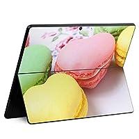 igsticker Surface Pro X 専用スキンシール サーフェス プロ エックス ノートブック ノートパソコン カバー ケース フィルム ステッカー アクセサリー 保護 002672 ラブリー マカロン カラフル 写真