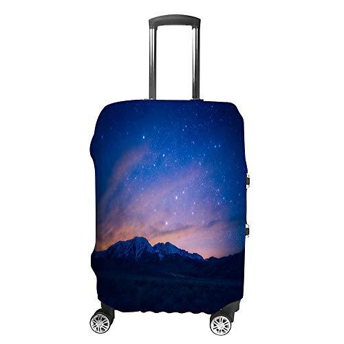 Copertura per bagagli da viaggio, antigraffio, custodia protettiva per bagagli, motivo tramonto Lattea Fit lavabile accessori antipolvere, Colorato, M,