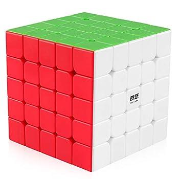 Coogam Qiyi 5x5 Speed Cube Stickerless Puzzle Toy  Qizheng S Version