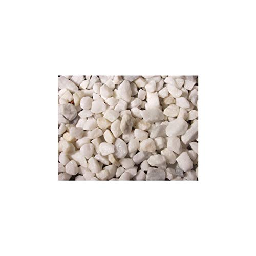 Charles Watson 9-12mm Polar White Spa Marble Chippings - Polybag - Approx 23kg