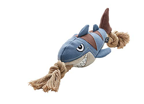 HUNTER Hundespielzeug Canvas Sansibar Rantum Shark mit Squeaker, 39 cm