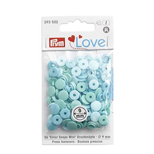 Prym Love Color Snaps Fasteners Mini Menta 36 piezas, talla única