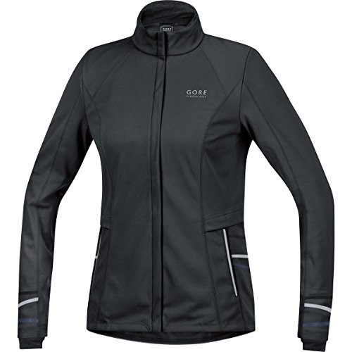 GORE WEAR Damen Jacke Mythos Lady 2.0 Windstopper Soft Shell, Schwarz, 40