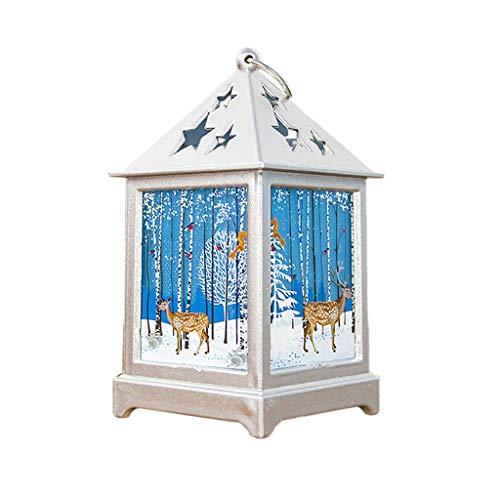 Dasongff Weihnachten Deko Holz, LED Weihnachtsbeleuchtung innen Weihnachts-Dorf Christmas LED-Lichterkette warmweiß Fenster Deko Weihnachten