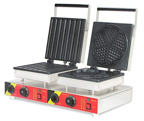 NP-581 Commercial Churros Machine 2 in 1 Waffle Iron Machine Electric Non-Stick Waffle Maker Waffle Baker Spain Churro Maker (220V)
