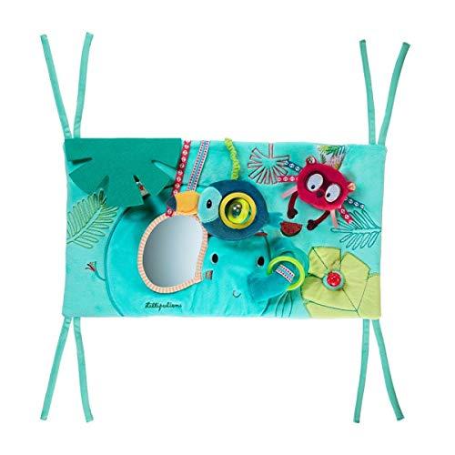 Lilliputiens 83025 Baby Aktivitätstafel - Spielboard für das Babybett / Laufstall - Maße: 45 x 24 x 2 cm, geeignet ab 3 Monaten